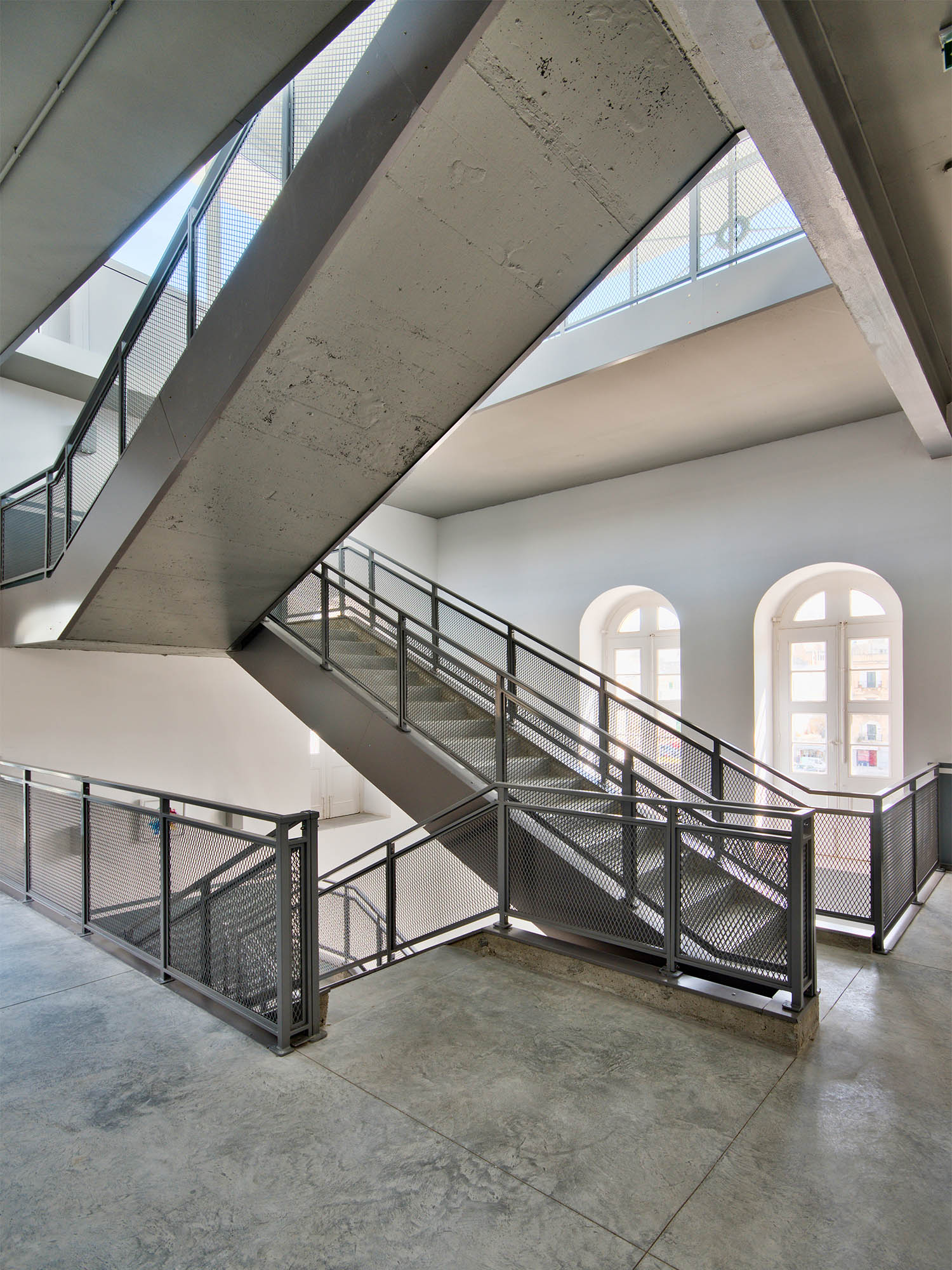 British Building Stairwell Alan Carville