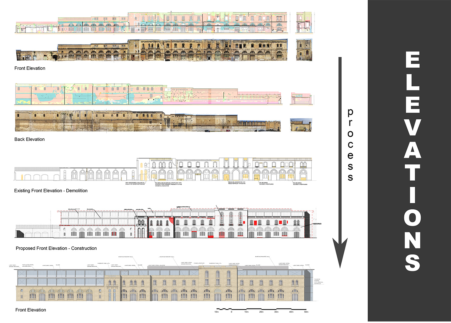 Elevations & Restoration Process Edwin Mintoff Architects}