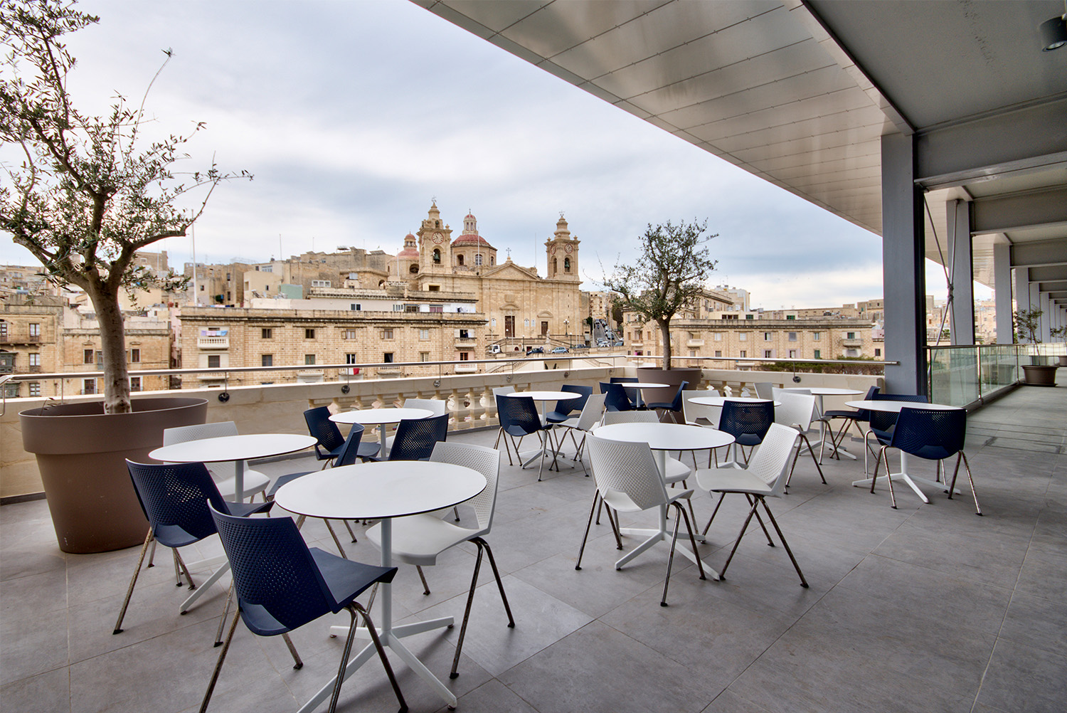 British Building Outdoor cafeteria Alan Carville
