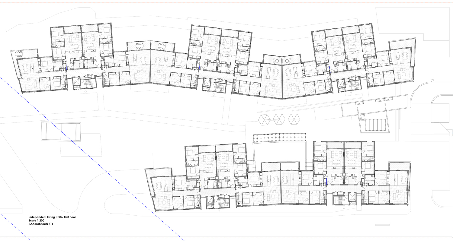 Independent Living Units – first floor plan RAAarchitects}