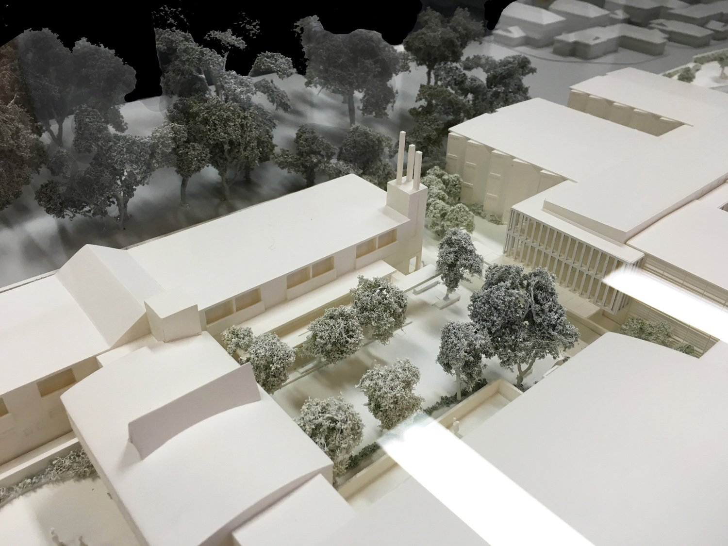 Village Square, Chapel and Residential Aged Care (model) Kink Studio