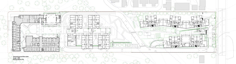 Blacktown Village - site and ground floor plan RAAarchitects}