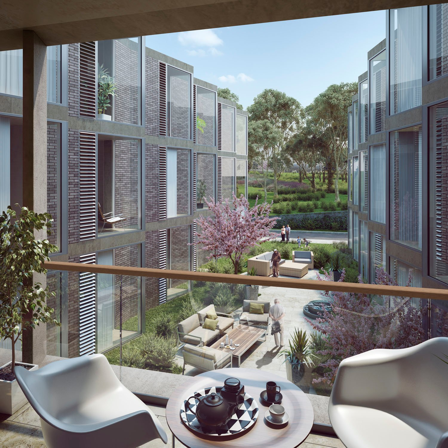 Internal view of Residential Aged Care court Berga & Gonzalez