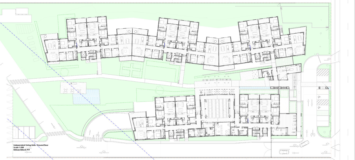 Independent Living Units – ground floor plan RAAarchitects}