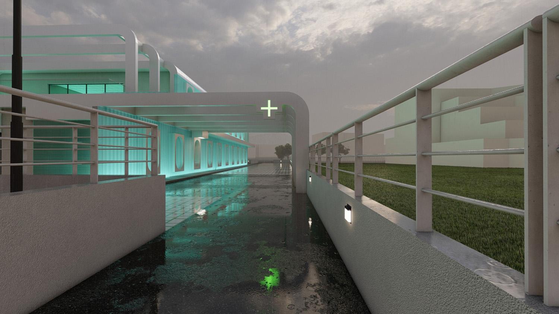 Pharmadrive entrance SCA Architecture