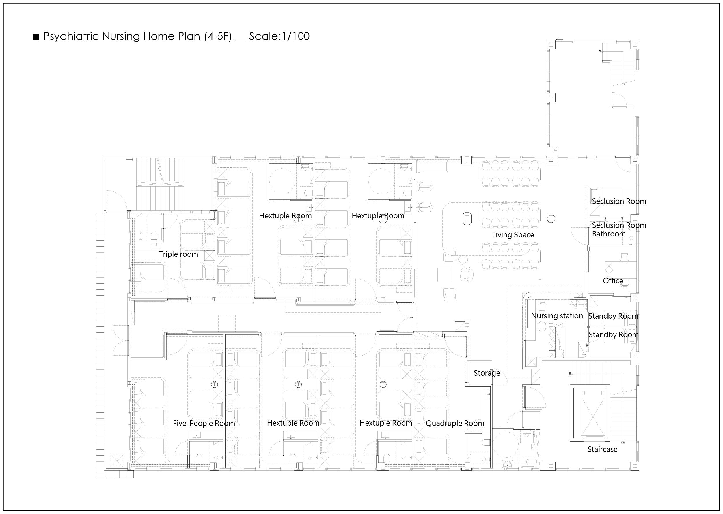 12_Inpatient Building 4-5F Plan Wooyo Architecture}