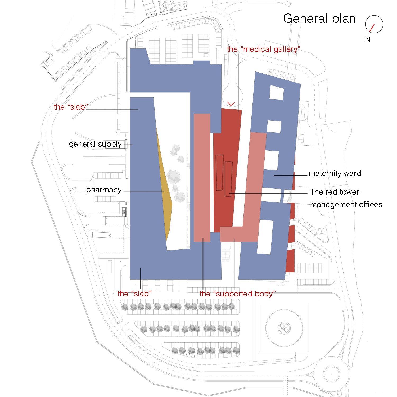 General plan Aymeric Zublena (Scau Architecture-Paris), Ugo and Paolo Dellapiana (Archicura-Torino), Ugo Camerino (Venezia)}