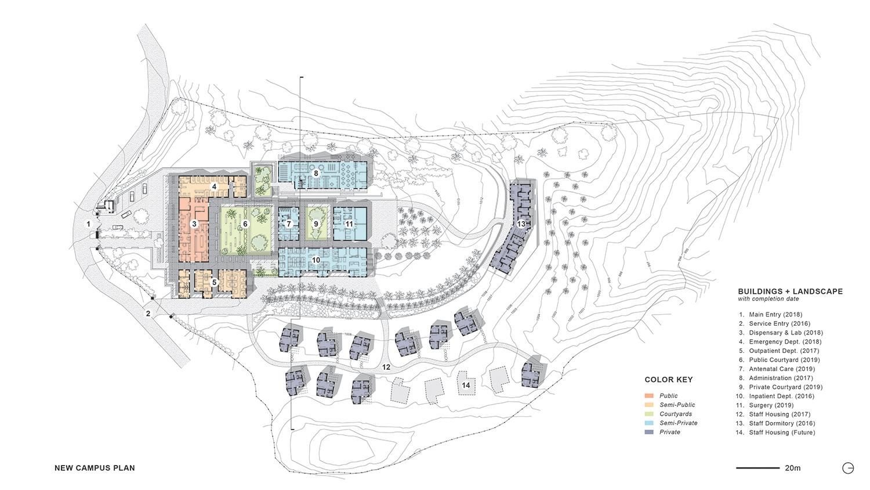 Campus plan of the Bayalpata Hospital Sharon Davis Design}