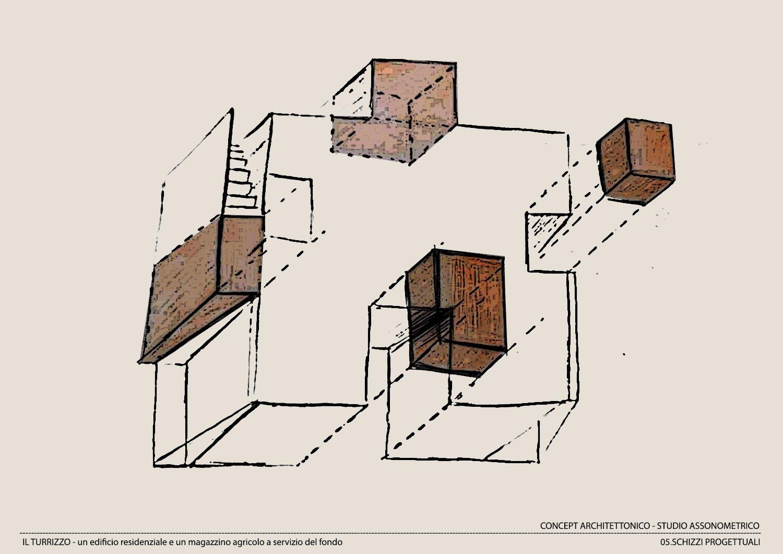 CONCEPT ARCHITETTONICO-STUDIO ASSONOMETRICO Moduslab Architecture&Interior design}