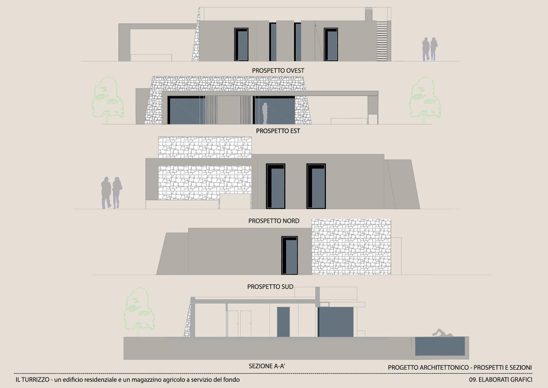 ELABORATO GRAFICO-PROSPETTI E SEZIONI Moduslab Architecture&Interior design}