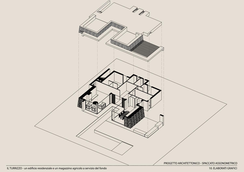 ELABORATO GRAFICO-SPACCATO ASSONOMETRICO Moduslab Architecture&Interior design}