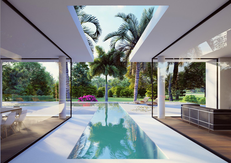 AREA ESTERNA- PISCINA Moduslab Architecture&Interior design
