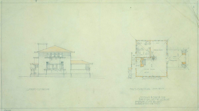 Original Sketch by Frank Lloyd Wright The Frank Lloyd Wright Foundation