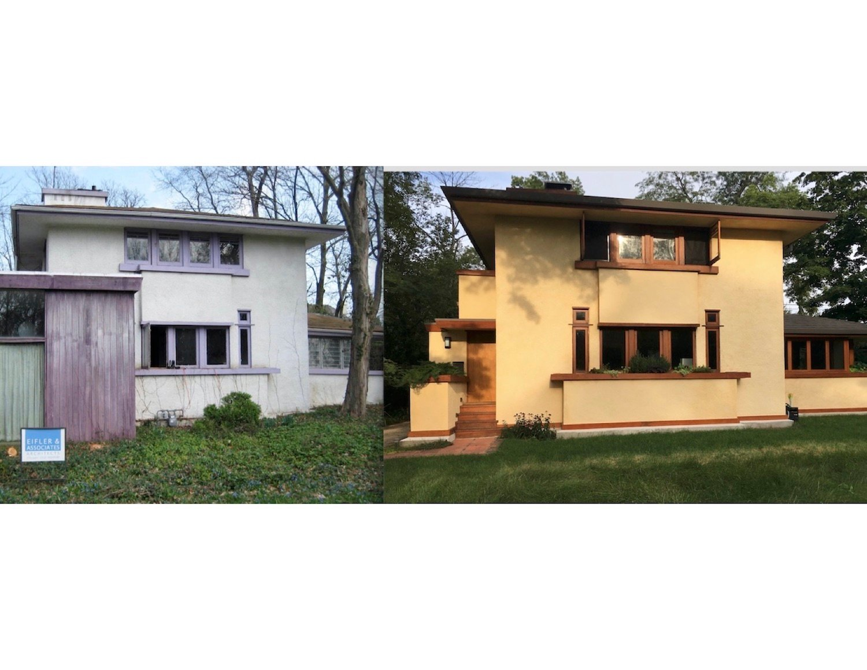 Front (West) Elevation, Before and After John Eifler