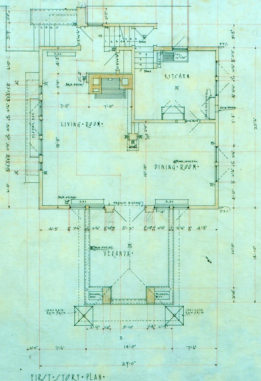 Original First Floor Plan The Frank Lloyd Wright Foundation}