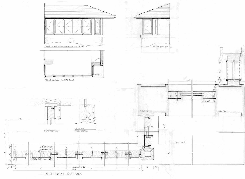 Drawings for Porch Windows Eifler & Associates}