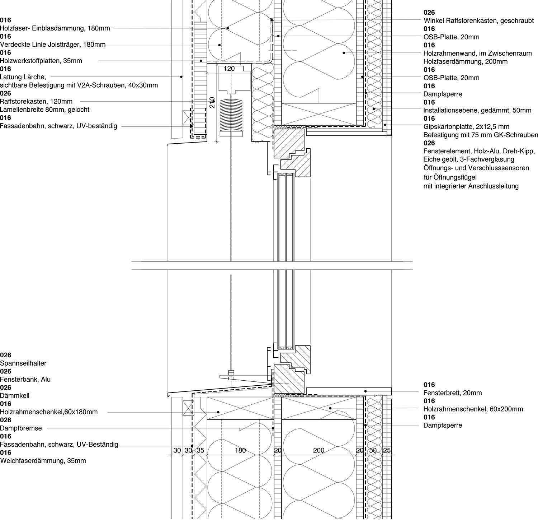 Facade section Yonder - Architektur und Design}