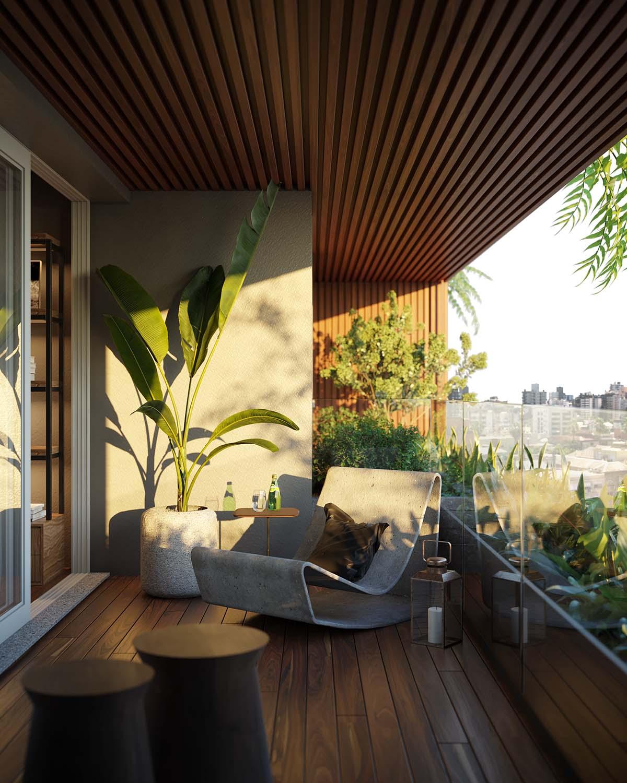 Apartment Balcony Vista Imagens