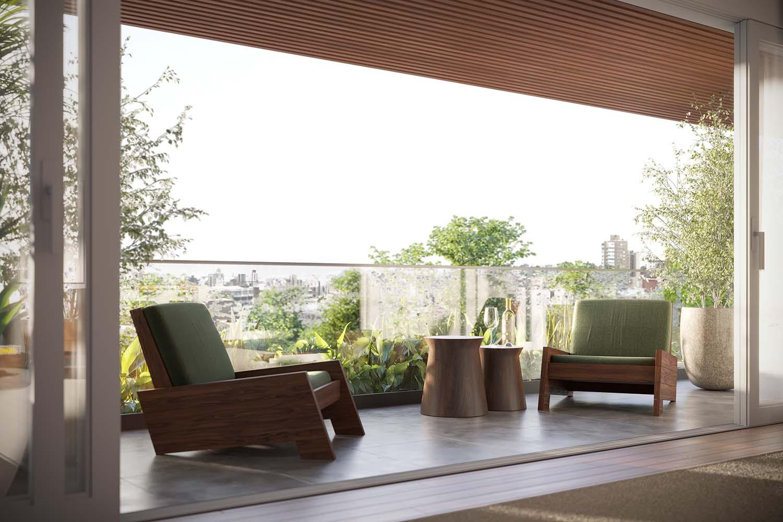 Apartment Balcony 02 Vista Imagens