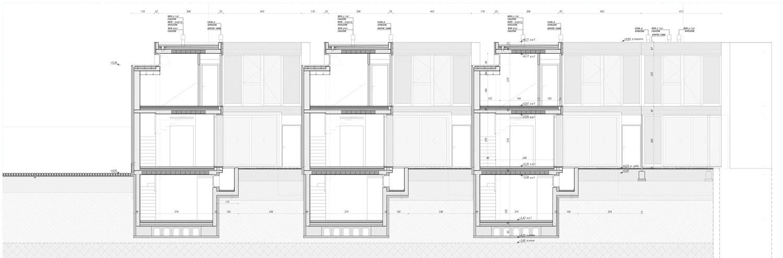 Sezione longitudinale esecutiva Noname Studio S.r.l.s.}