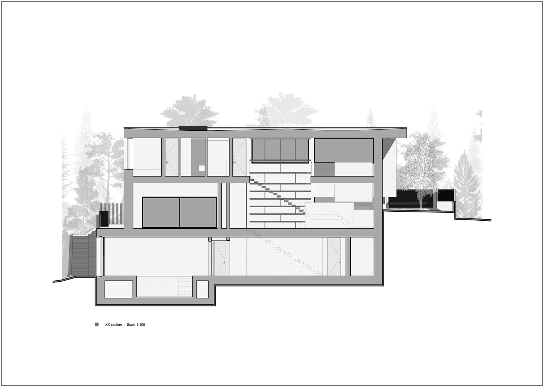 section X-X Rodolphe Mertens Architects}