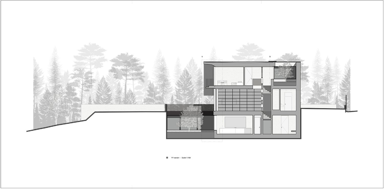 section Y-Y Rodolphe Mertens Architects}