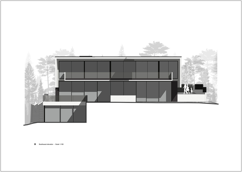 southwest facade Rodolphe Mertens Architects}