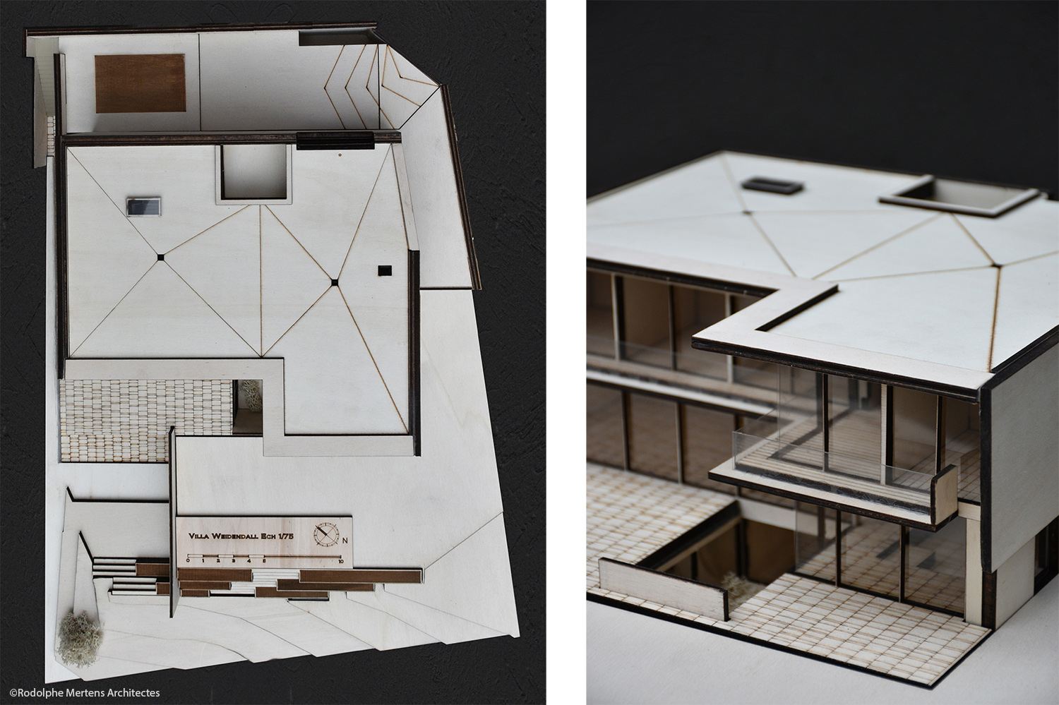 top view and detail of model Rodolphe Mertens Architects}