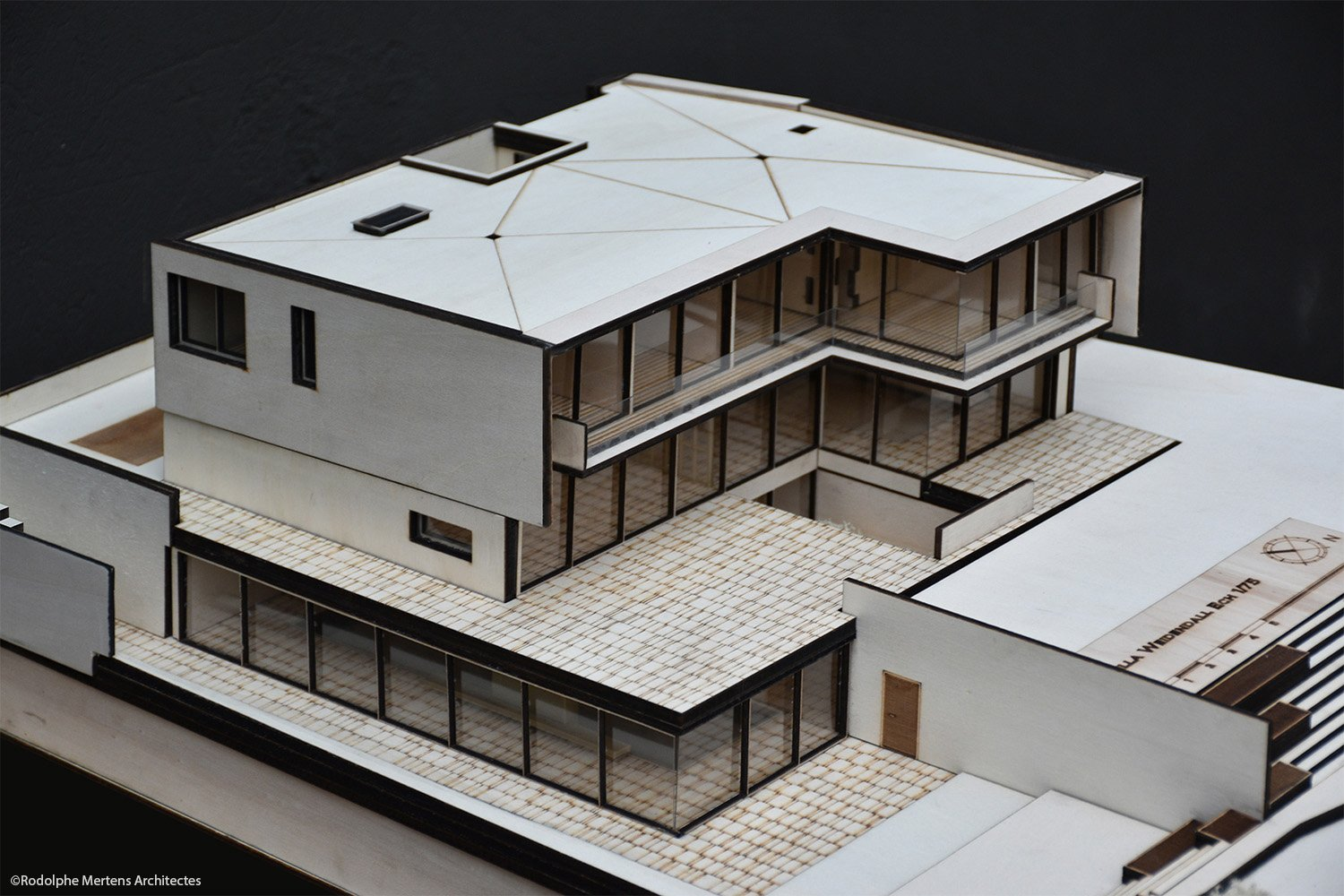 general view of model Rodolphe Mertens Architects}