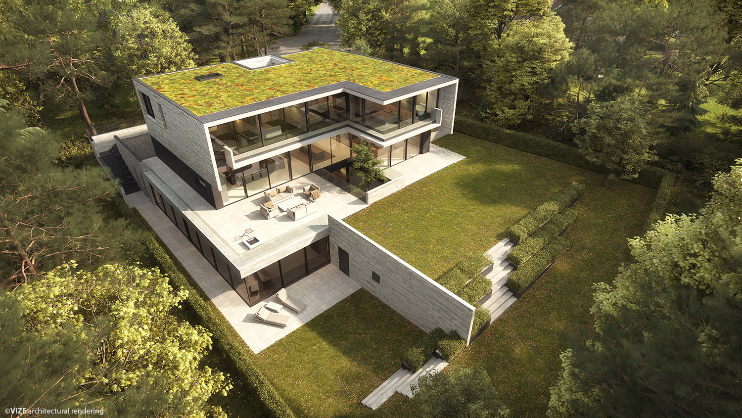 top view of the project VIZE architectural rendering}