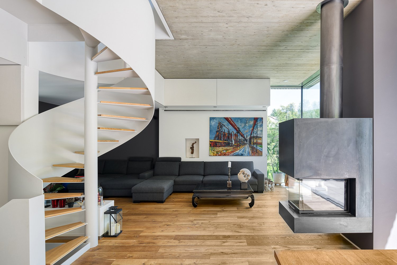 View of the living room Julien Swol for Beng Architectes Associés