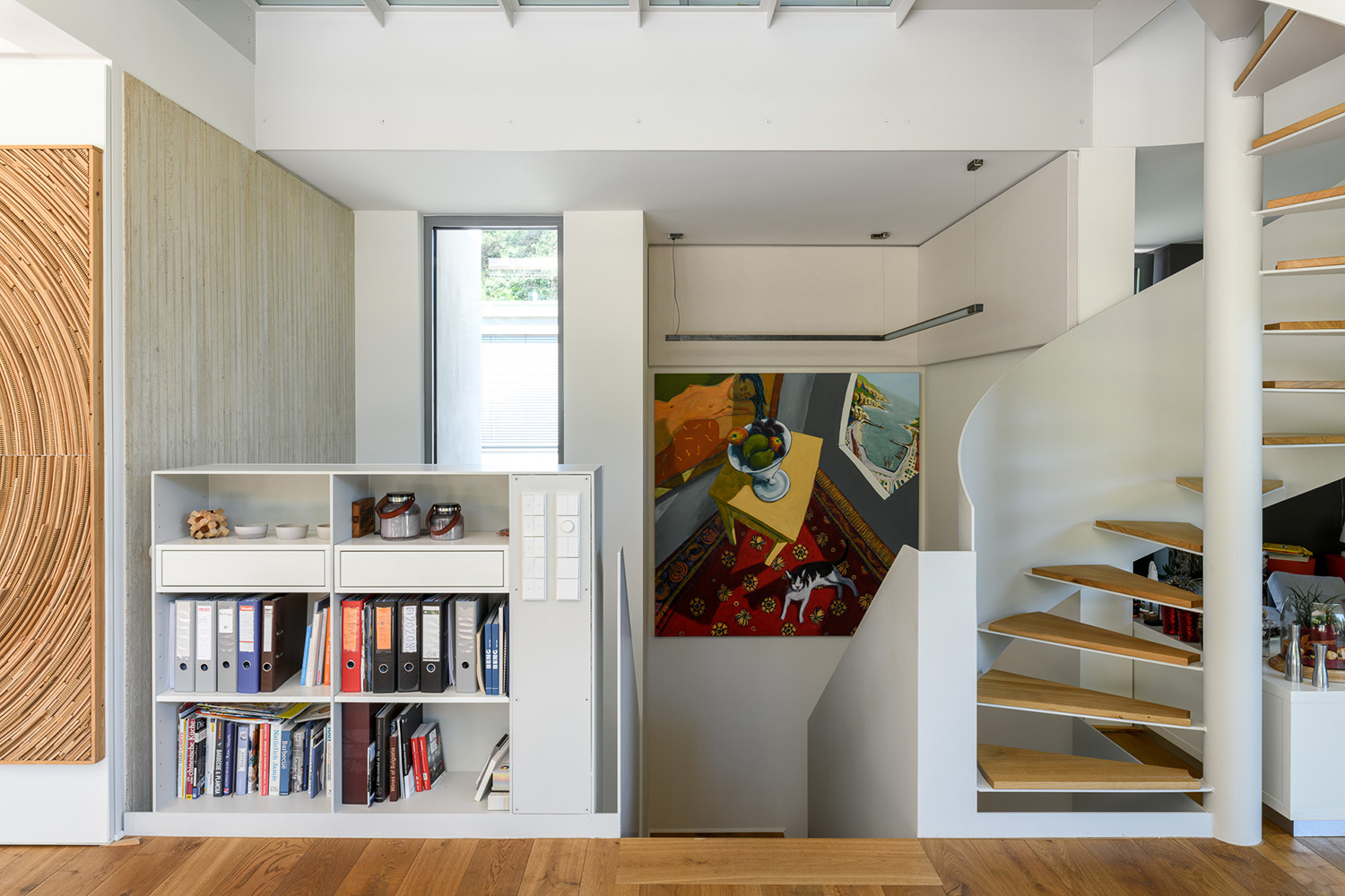 View of the staircase from the living room Julien Swol for Beng Architectes Associés