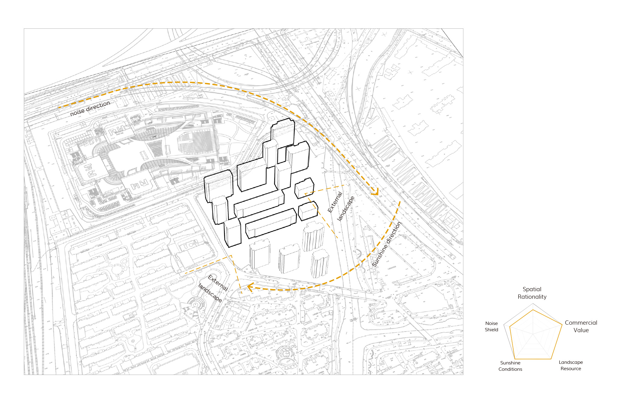 building layout analysis diagram gad · line+ studio}