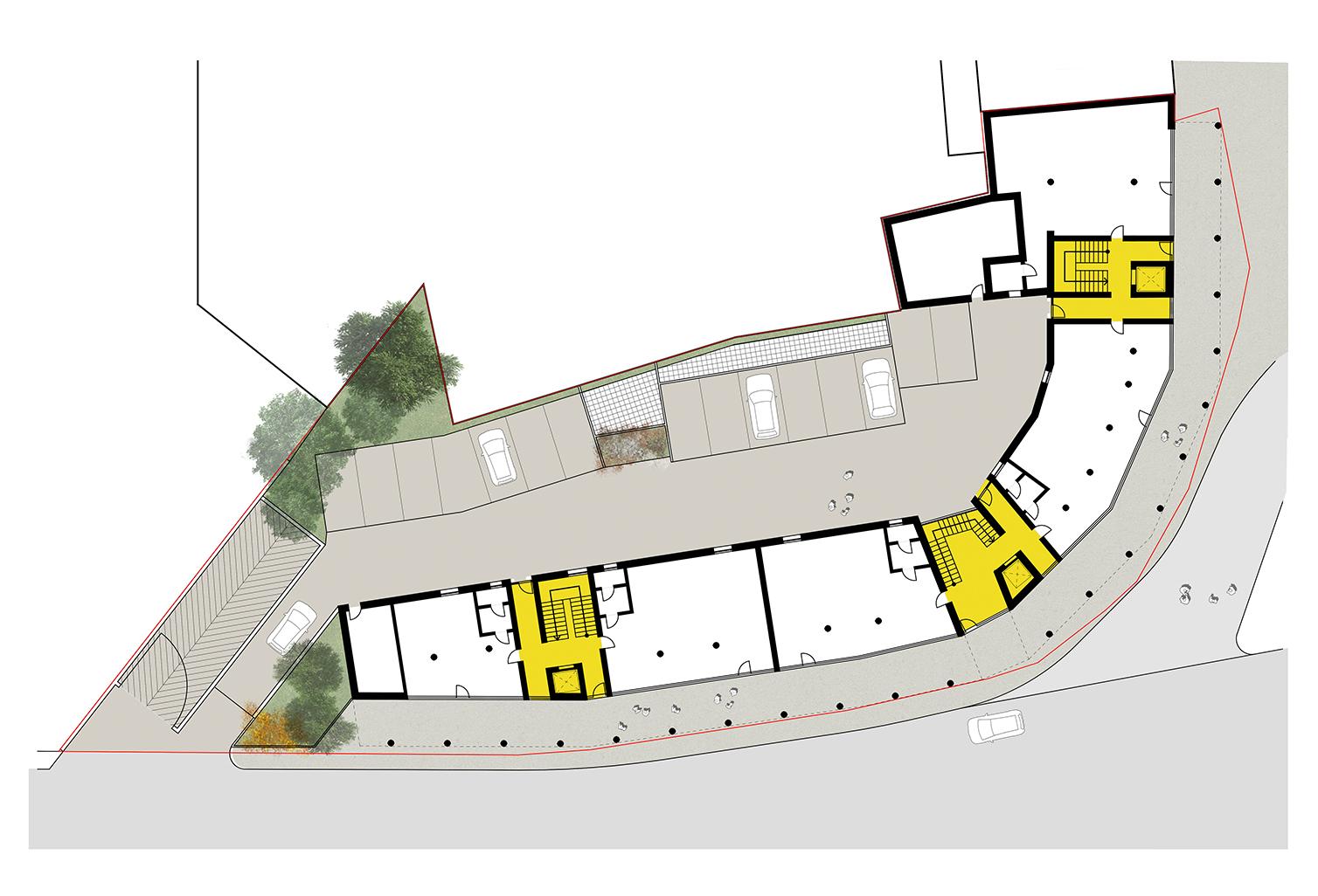 Pianta Piano terra - commerciale Frigerio Design Group}