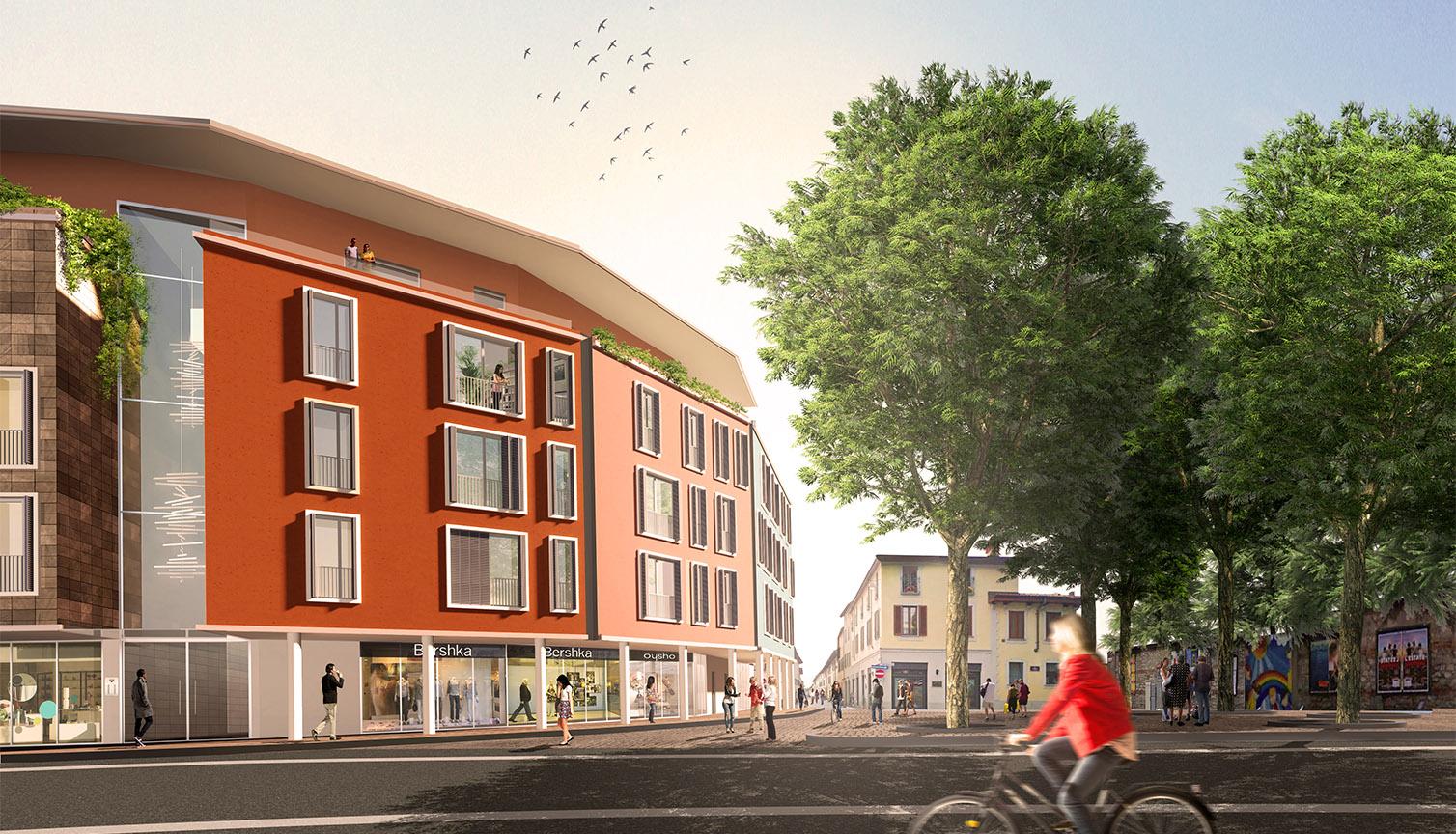 Il nuovo complesso residenziale da Piazza Aviatori d'Italia Frigerio Design group}