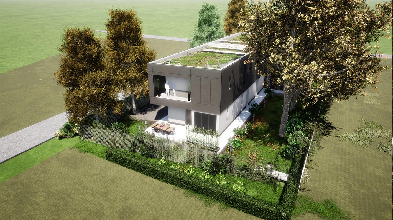 Render vista aerea photo © 2020 by GBa Lab direttore Riccardo Brini con GBA Studio srl / Gianluca Brini - Architetto Bologna - Via Andrea C