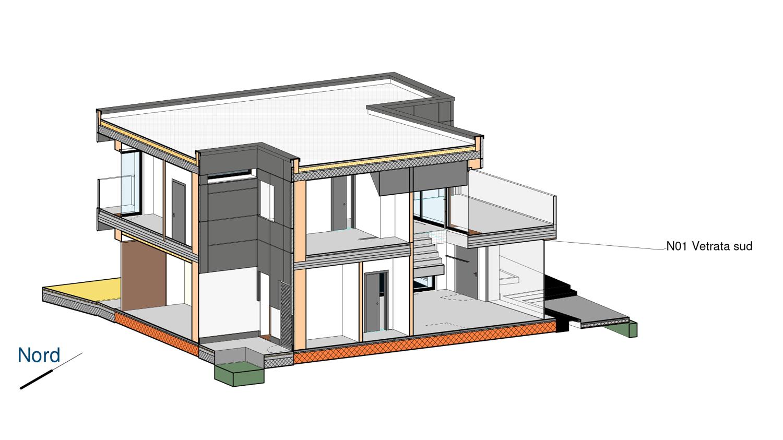 Esploso assonometrico photo © 2020 by GBA Studio srl / Gianluca Brini - Architetto Bologna - Via Andrea Costa 202/2 http://www.gbastudio.it/}