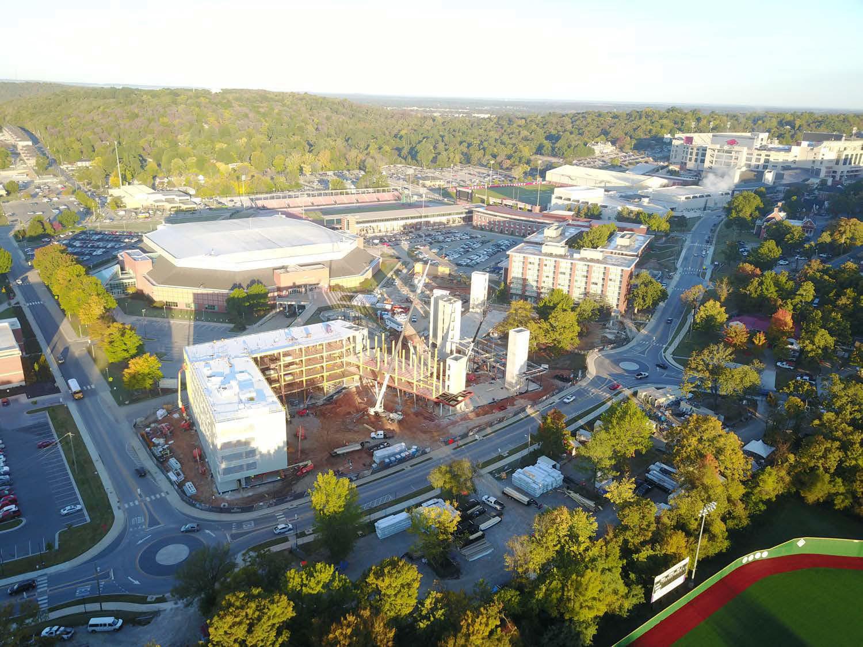Aerial Construction of Building Leers Weinzapfel Associates}
