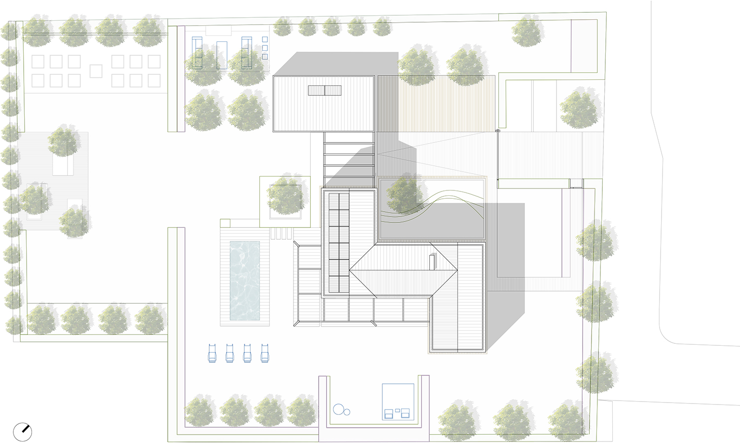 Masterplan - Outdoor and Indoor rooms NAT OFFICE - christian gasparini architect}