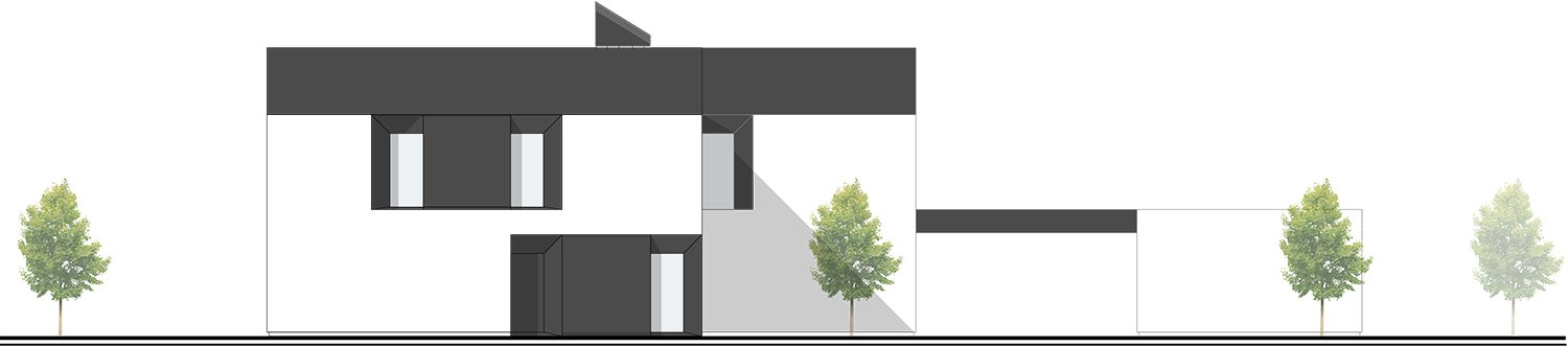North East Facade - towards the street and the entrance NAT OFFICE - christian gasparini architect}