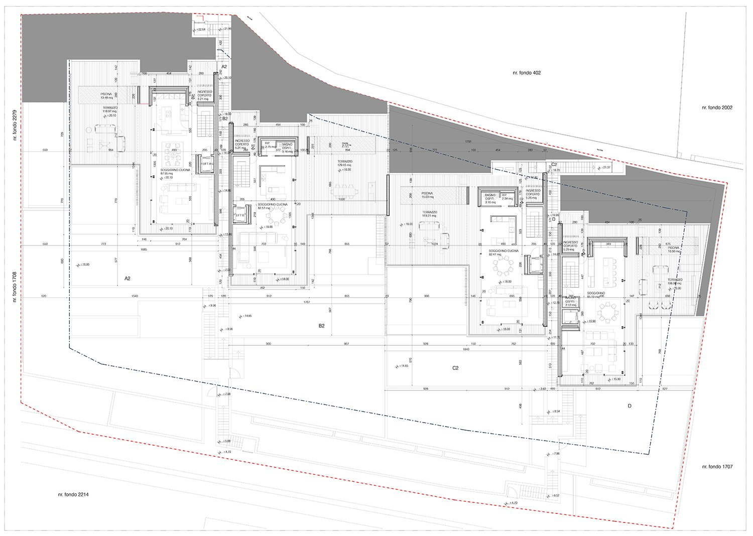 General Plan, typological plan A++ Human Sustainable Architecture}