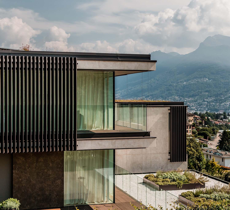 External view of the building Giacomo Carena}