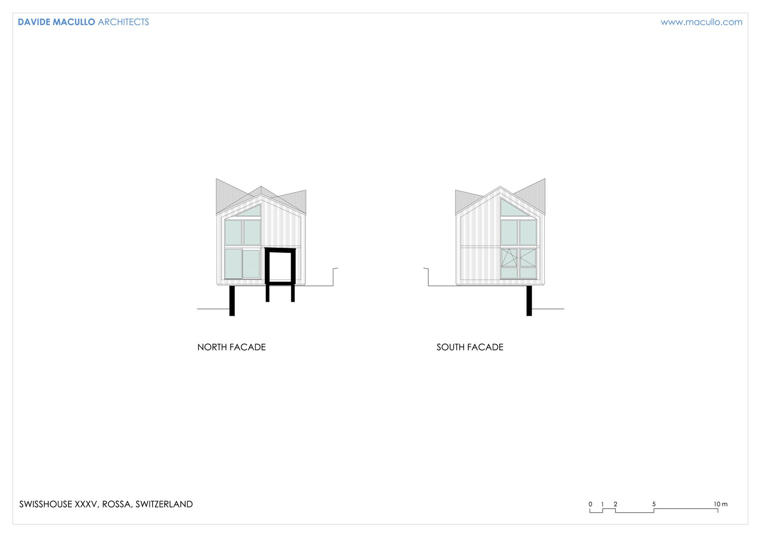 North and South facade Davide Macullo Arhcitects}