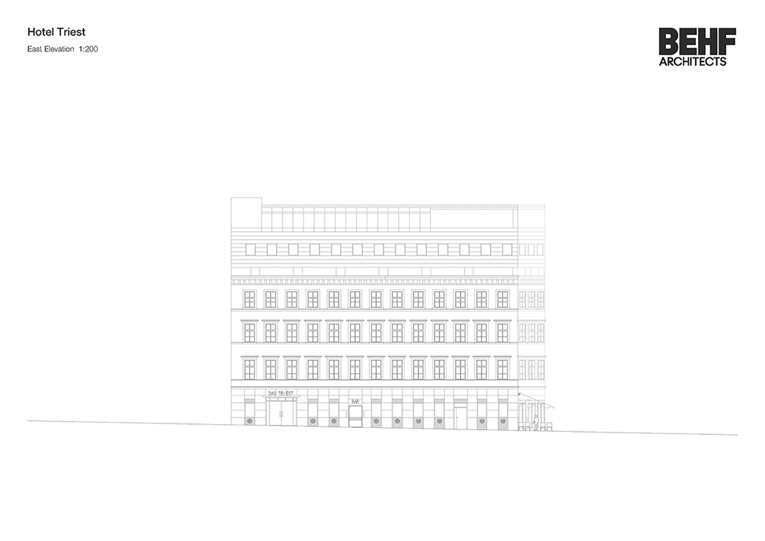 Hotel Triest East Elevation BEHFArchitects}