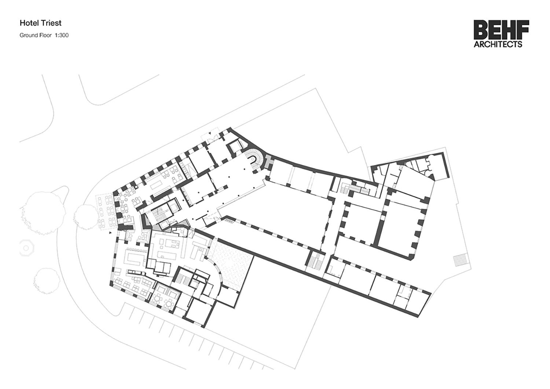Hotel Triest Ground Floor BEHFArchitects}