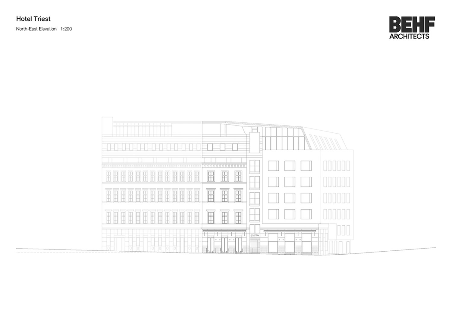 Hotel Triest North-East Elevation BEHFArchitects}