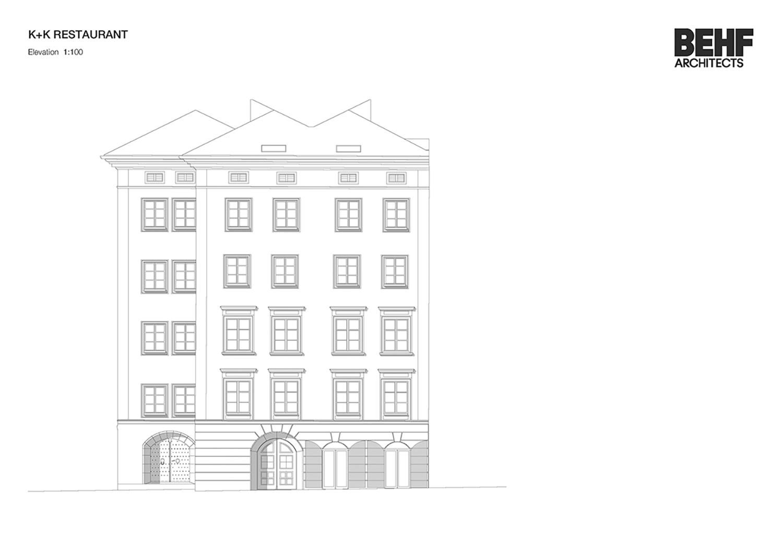 Restaurant Koller und Koller am Waagplatz Elevation BEHF Architects}