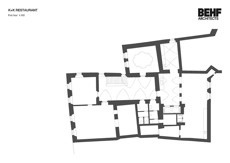Restaurant Koller und Koller am Waagplatz First Floor BEHF Architects}