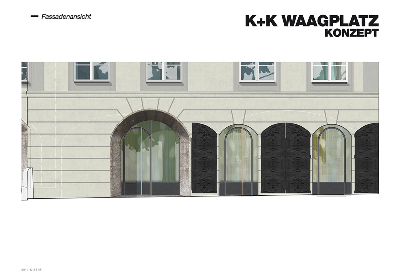 Restaurant Koller und Koller am Waagplatz Design Façade BEHF Architects}
