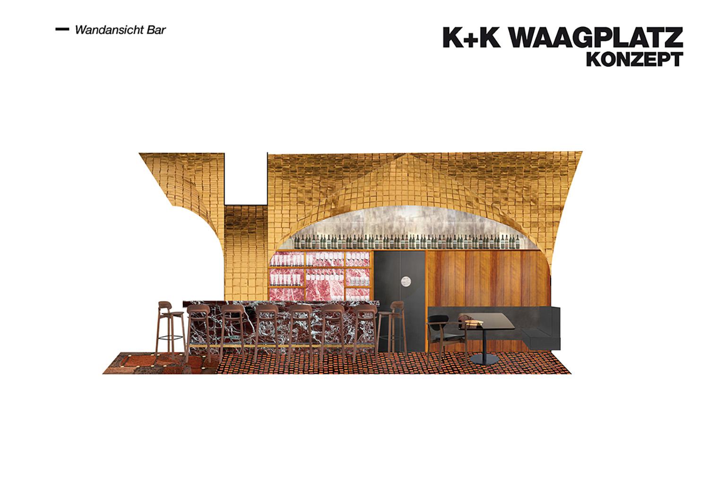 Restaurant Koller und Koller am Waagplatz Design Walls Bararea BEHF Architects}